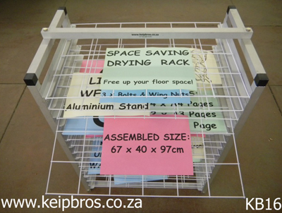 Classroom Drying Rack Assembled Size